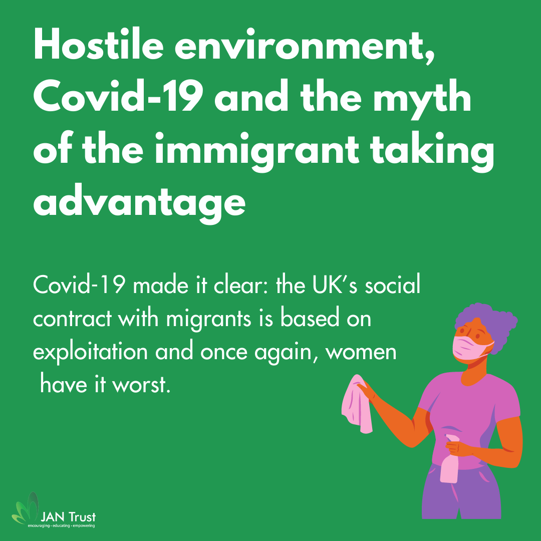 Hostile environment, Covid-19 and the myth of the immigrant taking advantage
