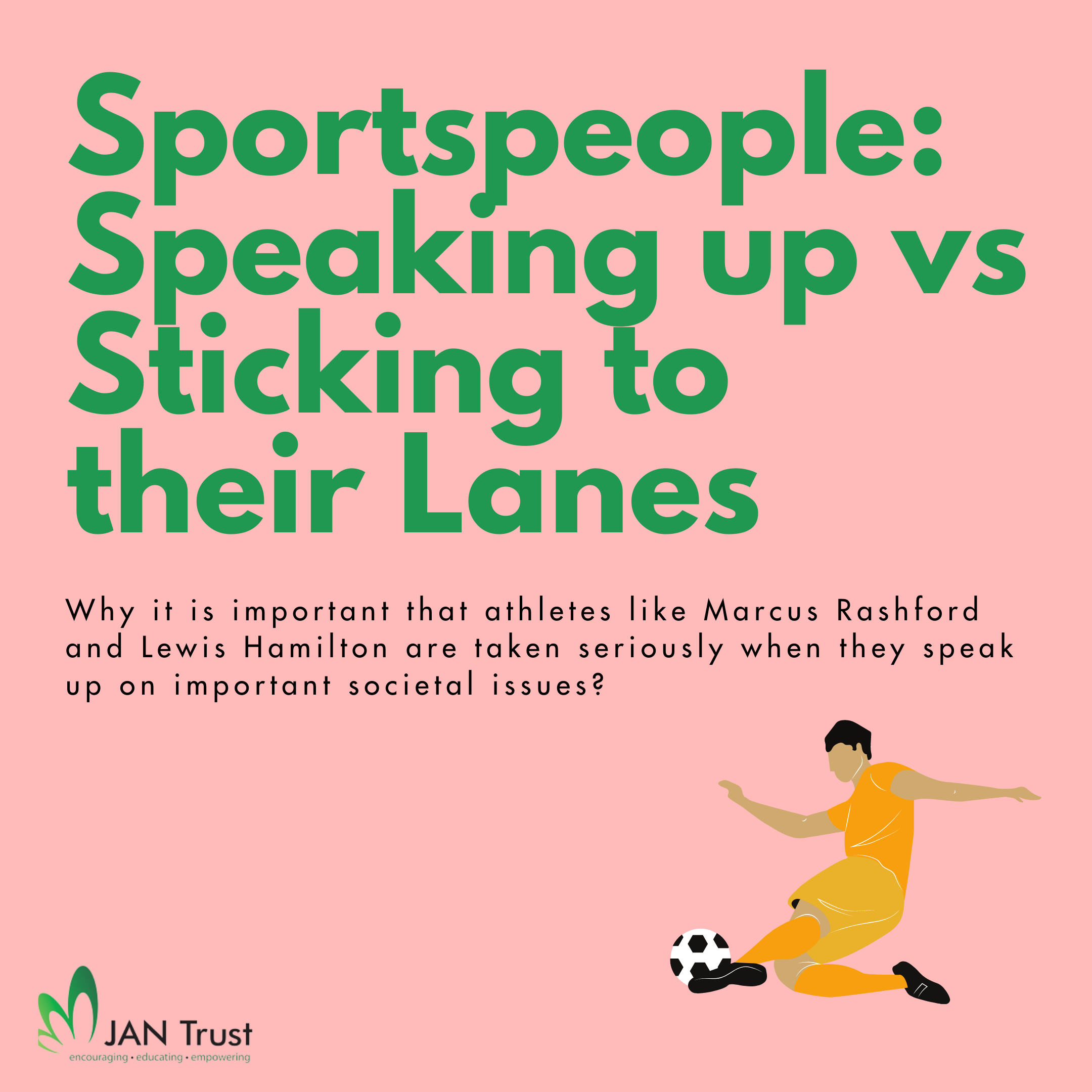 Sportspeople: Speaking Up vs Sticking to Their Lanes