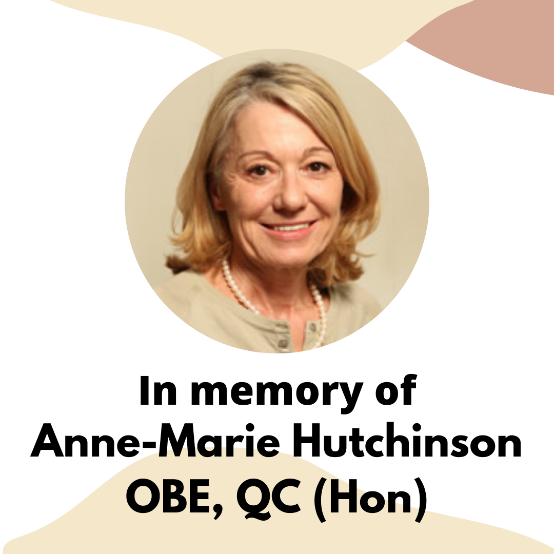 In memory of, Anne Marie Hutchinson OBE