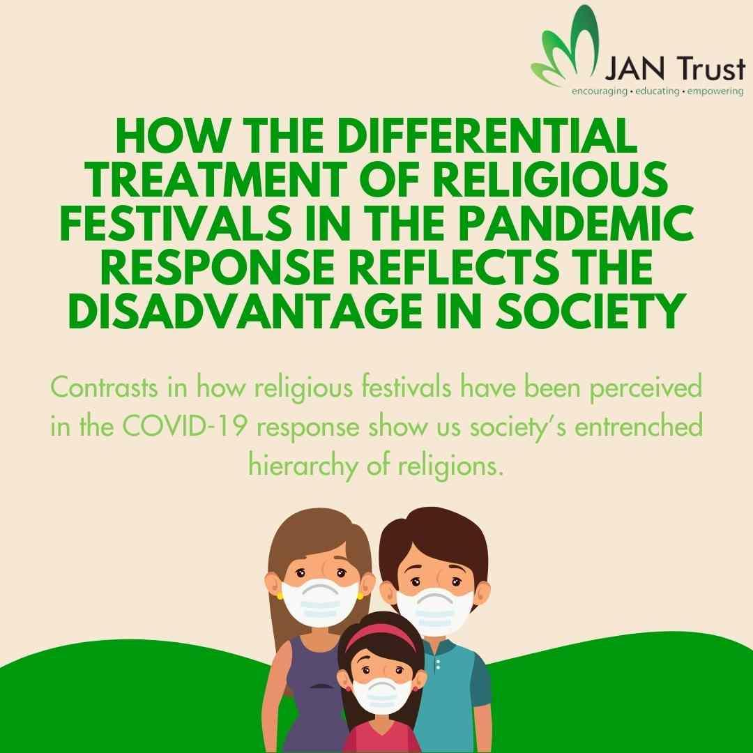 How the differential treatment of religious festivals in the pandemic response reflects the disadvantage in society