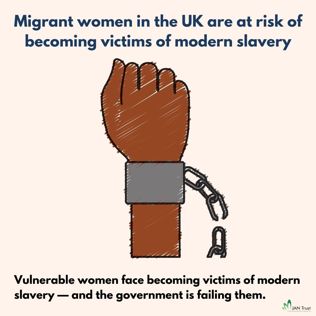 Migrant women in the UK are at risk of becoming victims of modern slavery