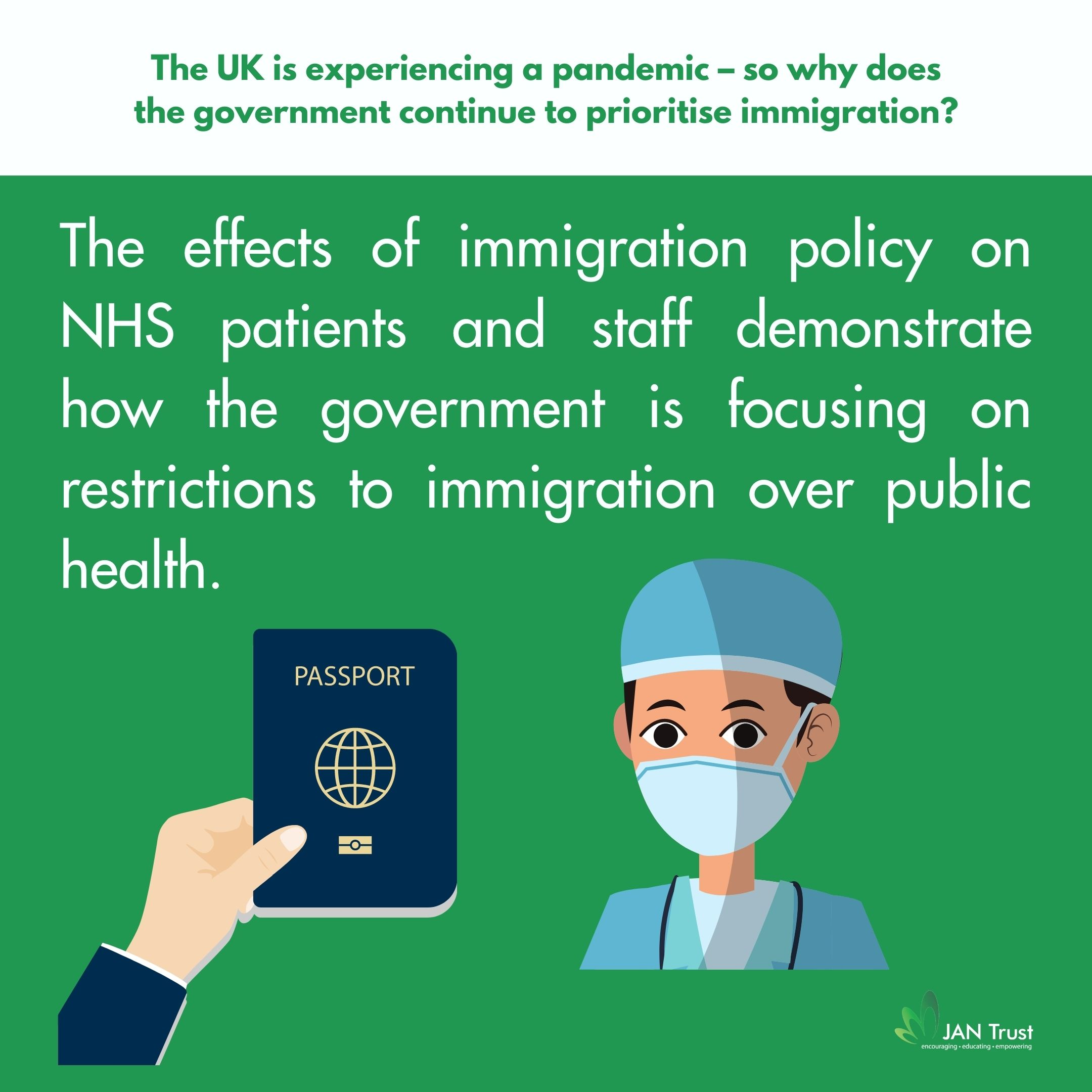 The UK is experiencing a pandemic – so why does the government continue to prioritise immigration?