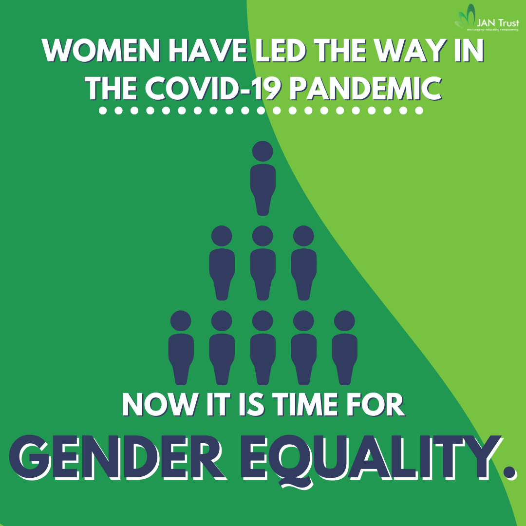 Women have led the way in the Covid-19 pandemic, now it is time for gender equality.