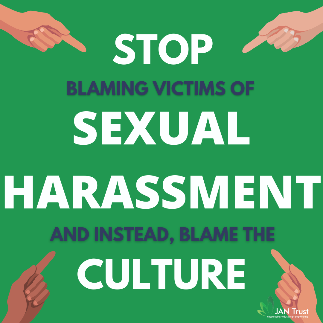 Stop blaming the victims of sexual harassment, blame the culture instead