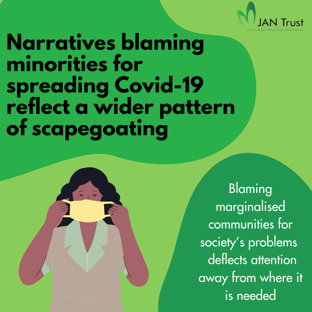 Narratives blaming minorities for spreading Covid-19 are not new — instead, they reflect a wider pattern of scapegoating