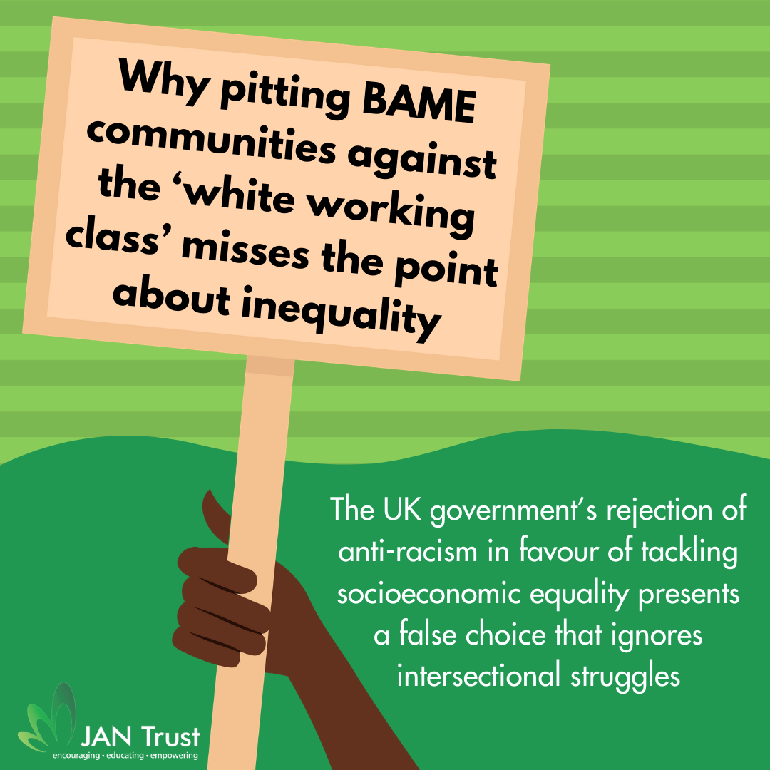 Why pitting BAME communities against the 'white working class' misses the point about inequality