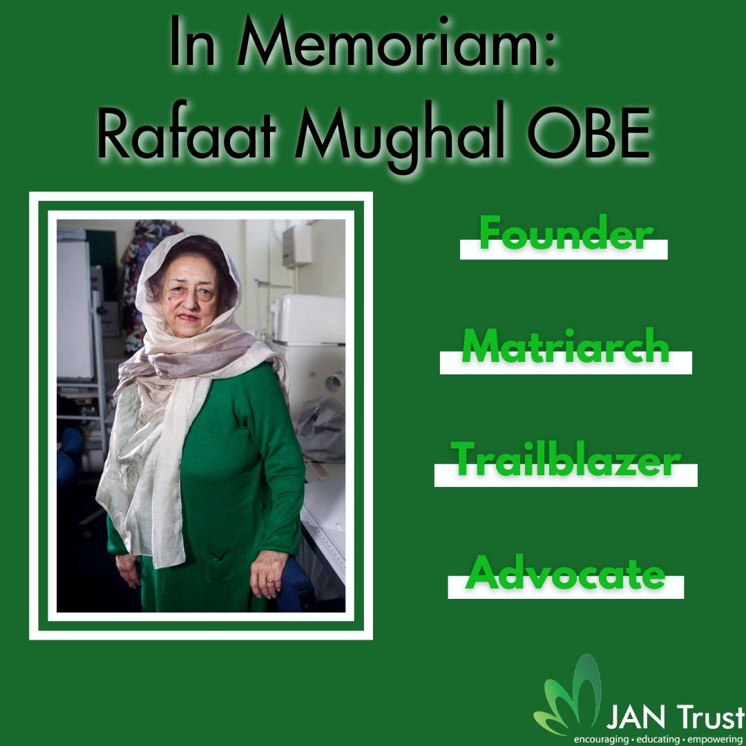 In Memoriam: Rafaat Mughal OBE