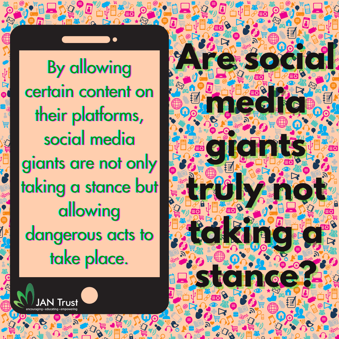 Are social media giants truly not taking a stance?