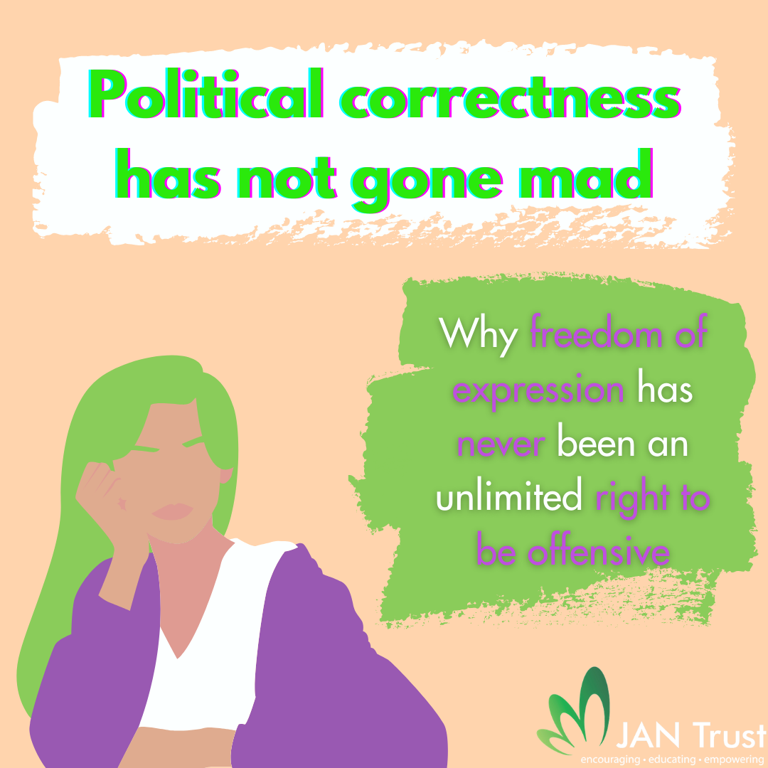 Political correctness has not gone mad