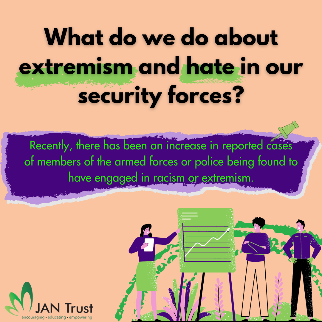 What do we do about extremism and hate in our security forces?