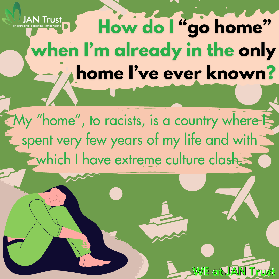 """How do I """"go home"""" when I'm already in the only home I've ever known?"""