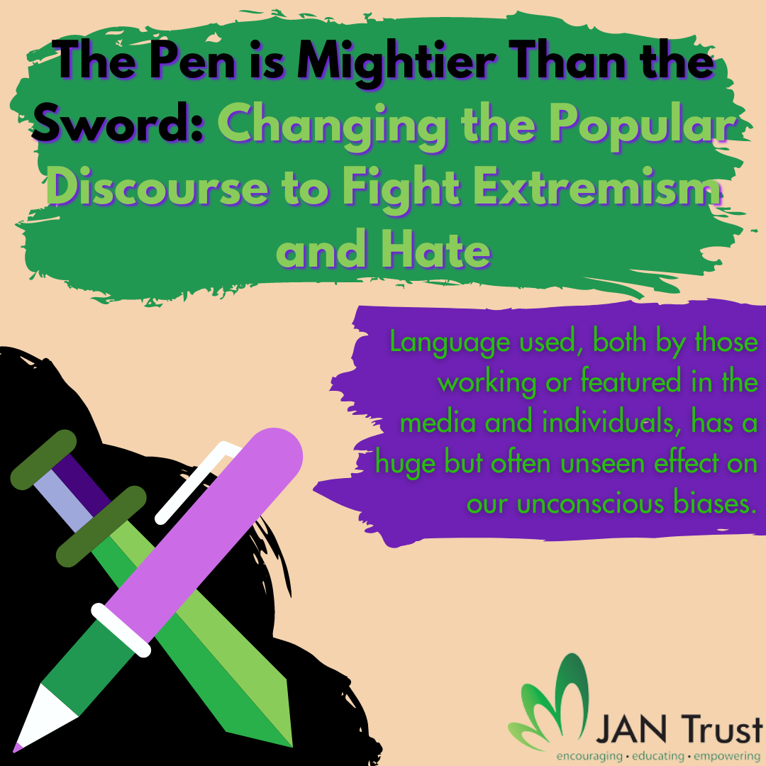 The pen is mightier than the sword: changing the popular discourse to fight extremism and hate