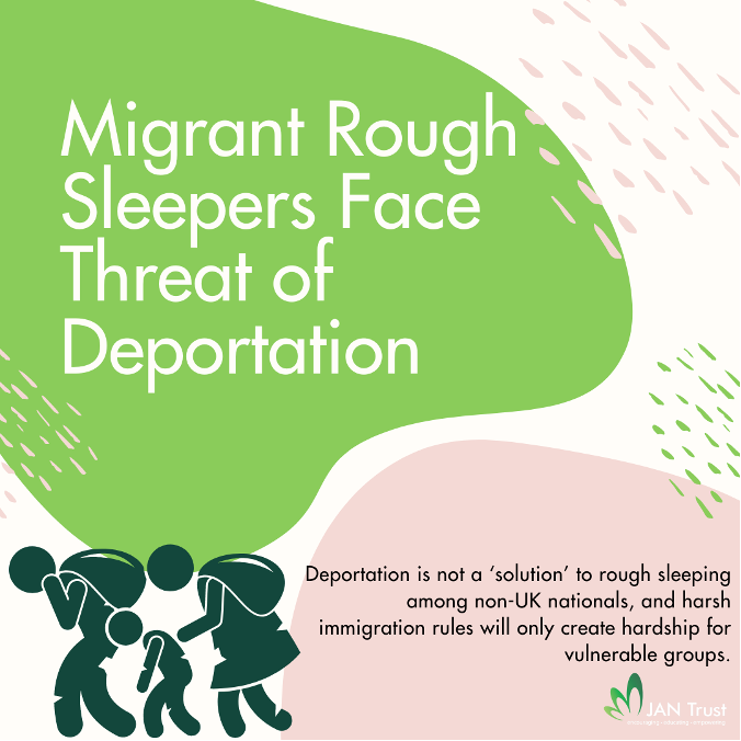 Migrant rough sleepers face threat of deportation