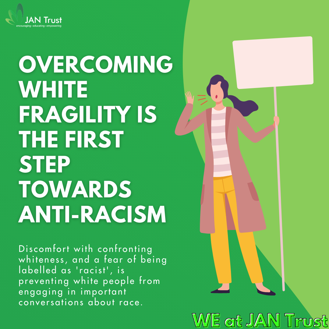 Overcoming White fragility is the first step towards anti-racism
